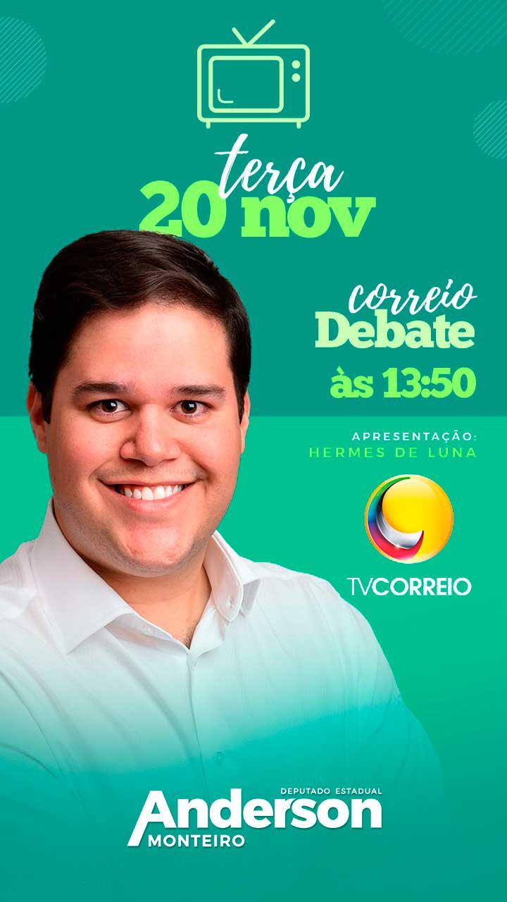Deputado eleito Anderson Monteiro é o entrevistado do Correio Debate
