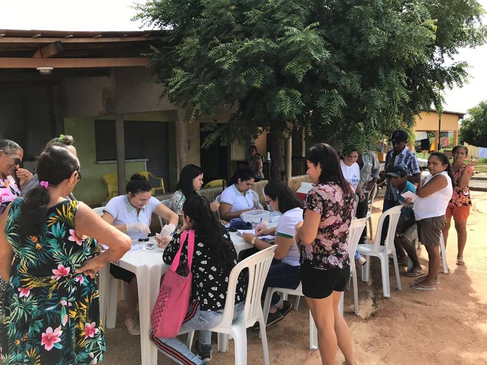 Comunidades Logradouro I e II são atendidas pela Caravana da Saúde