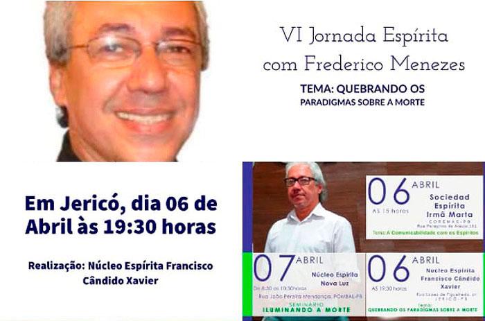 Jornada Espírita com Frederico Menezes em Jericó