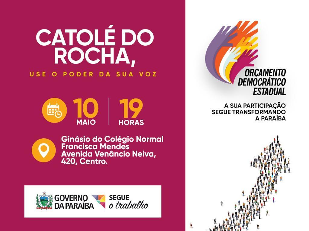 Catolé do Rocha e Pombal sediam audiências do ODE sexta e sábado