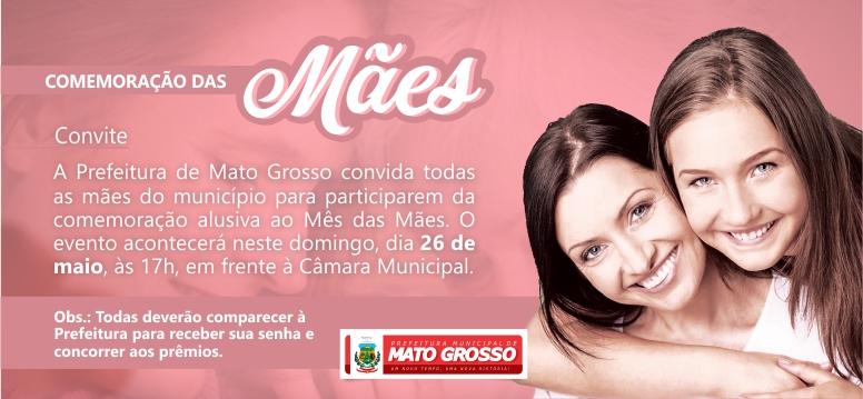 Prefeitura de Mato Grosso realiza evento em alusão ao 'Mês das Mães' neste domingo (26)
