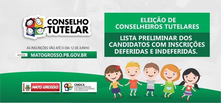 Divulgado resultado das inscrições para eleição de novos membros do Conselho Tutelar de Mato Grosso