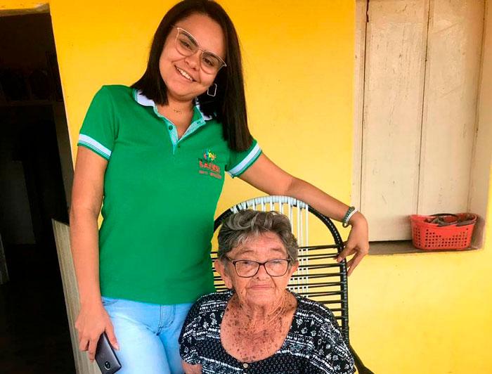 NASF de Mato Grosso realiza visitas domiciliares a idosos