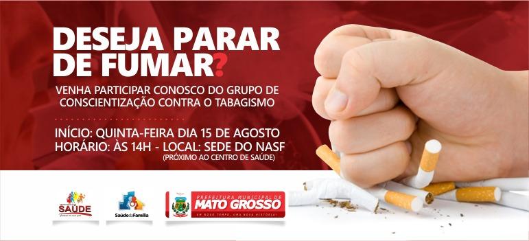 Secretaria de Saúde de Mato Grosso e NASF darão início a novo grupo de conscientização contra uso de cigarro