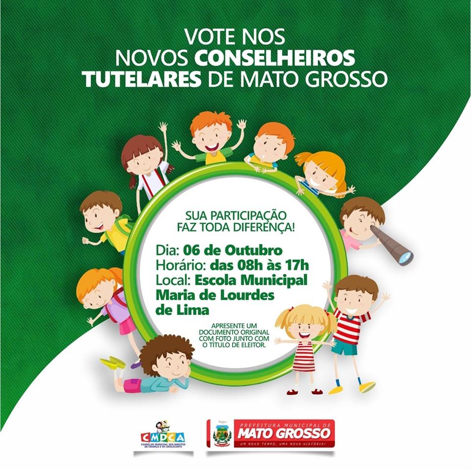 Eleições Unificadas para o Conselho Tutelar 2019: vote nos novos Conselheiros Tutelares de Mato Grosso
