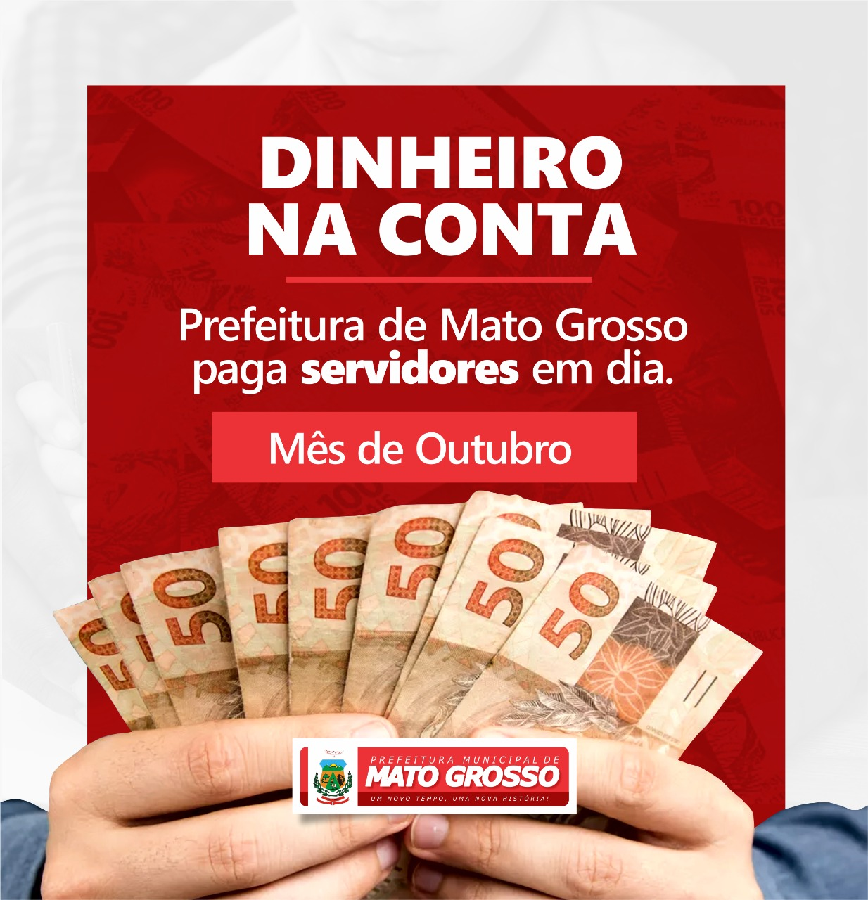 Servidores municipais de Mato Grosso recebem pagamento de outubro