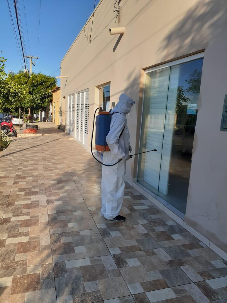 Prefeitura de Mato Grosso realiza higienização em espaços públicos da cidade