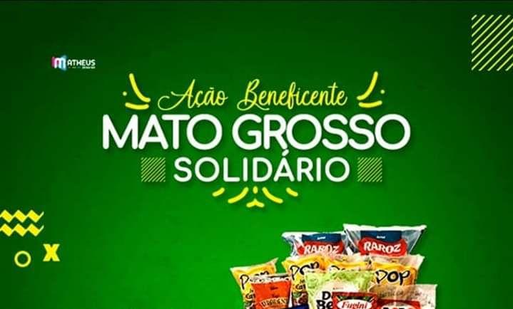 Mato Grosso Solidário arrecada alimentos e máscaras para famílias carentes