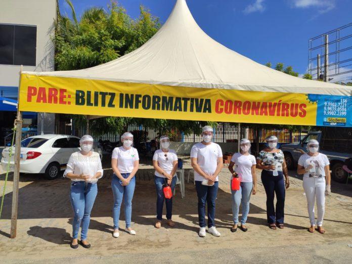 Blitz Educativa contra o Covid-19 em São Bento