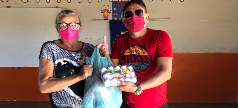 Secretaria de Educação de Mato Grosso entrega cestas básicas a alunos da rede municipal de Ensino