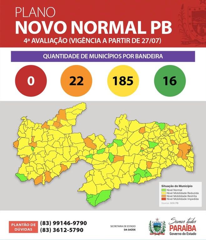 Plano Novo Normal: Jericó passa da bandeira amarela para laranja; confira outros municípios da região