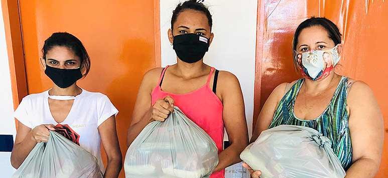 Prefeitura de Mato Grosso entrega mais cestas básicas a alunos da rede municipal de ensino