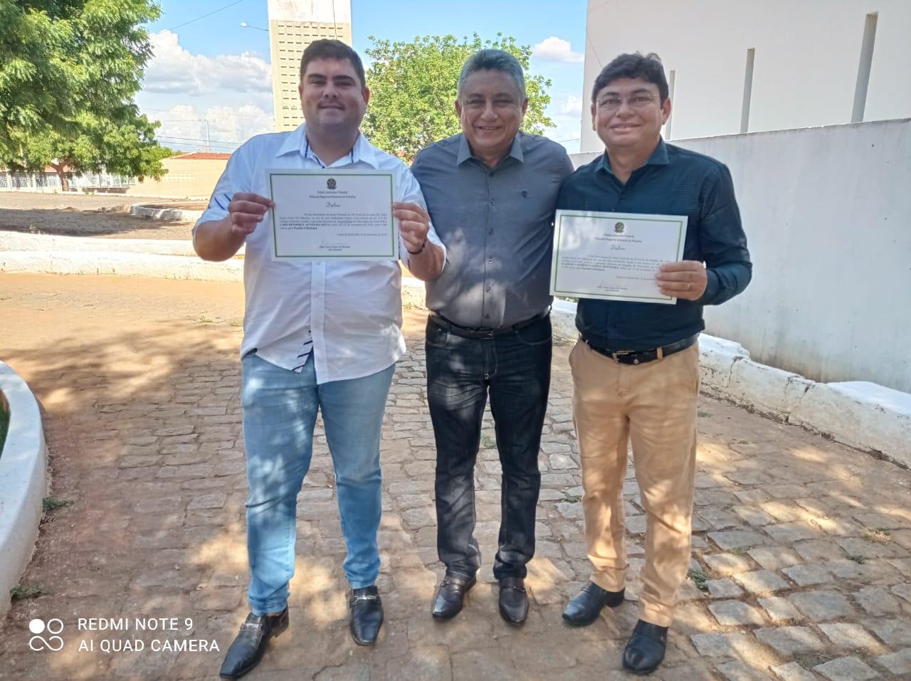 Kadson Monteiro e Caio Alves são diplomados prefeito e vice de Jericó