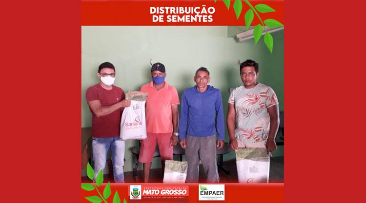 Empaer e Prefeitura de Mato Grosso iniciam distribuição de sementes para agricultores