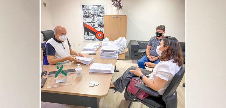 Prefeito de Jericó participa de encontro com Pollyanna Dutra e secretário estadual de Saúde
