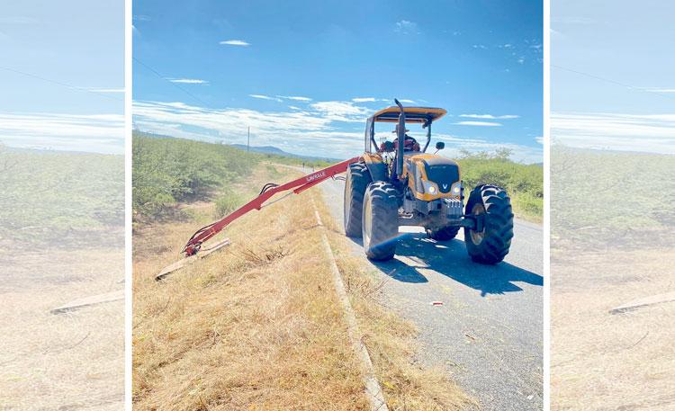 Prefeitura de Mato Grosso realiza roço em rodovia PB-327